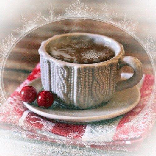 Гифки с кофе доброе утро зимнее