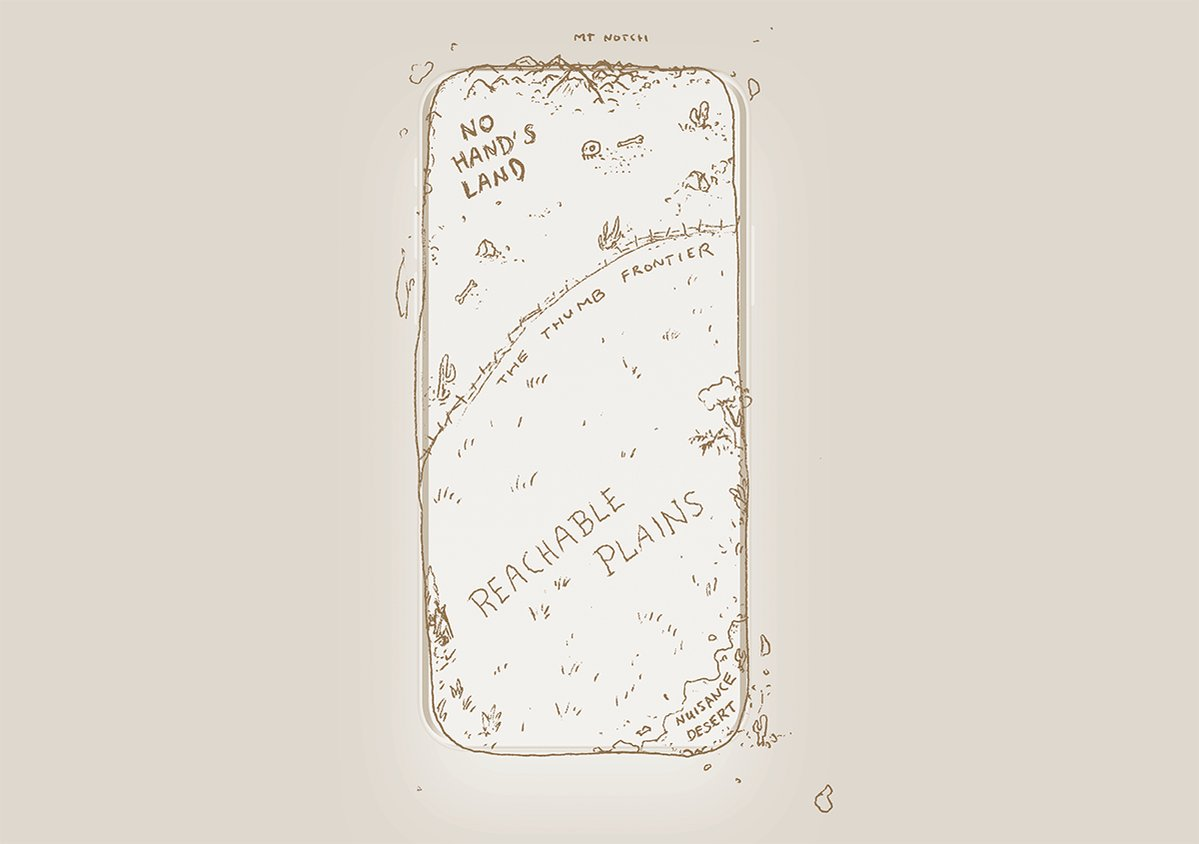 RT @sdw: I drew a world map of the iPhone X for your fingers. https://t.co/ZBJHMCf3Mj https://t.co/AYs14yfTjE