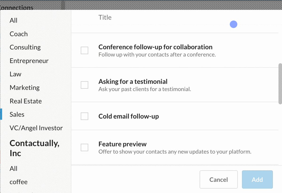 Contactually #protipCategorize content through Team Libraries so it's easier for your team to find what's relevant https://t.co/IYjZO2lIws
