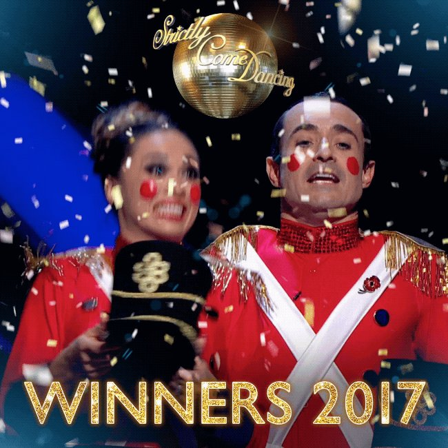 They've done it! Say hello to your #Strictly 2017 champions, @mrjoemcfadden and @Mrs_katjones 🎉#StrictlyFinal https://t.co/y2OzUqL6sW