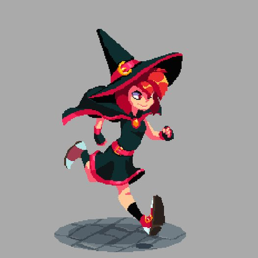 #pixelart #animation #witch