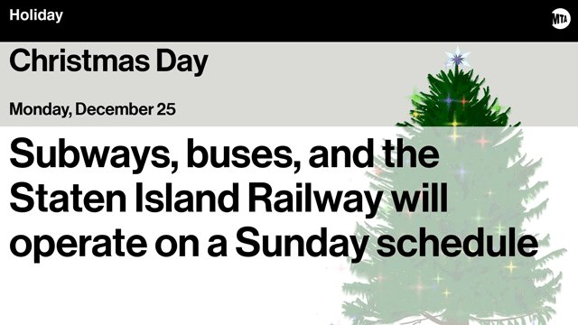 nyct subway on twitter on christmas day monday december 25 subways and buses in brooklyn bronx manhattan and queens as well as the staten island - Subway Christmas Eve Hours