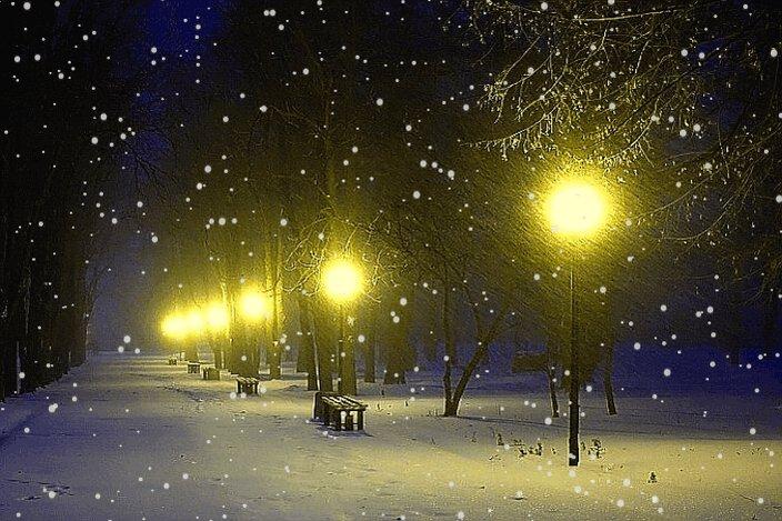 Снег идет гифы