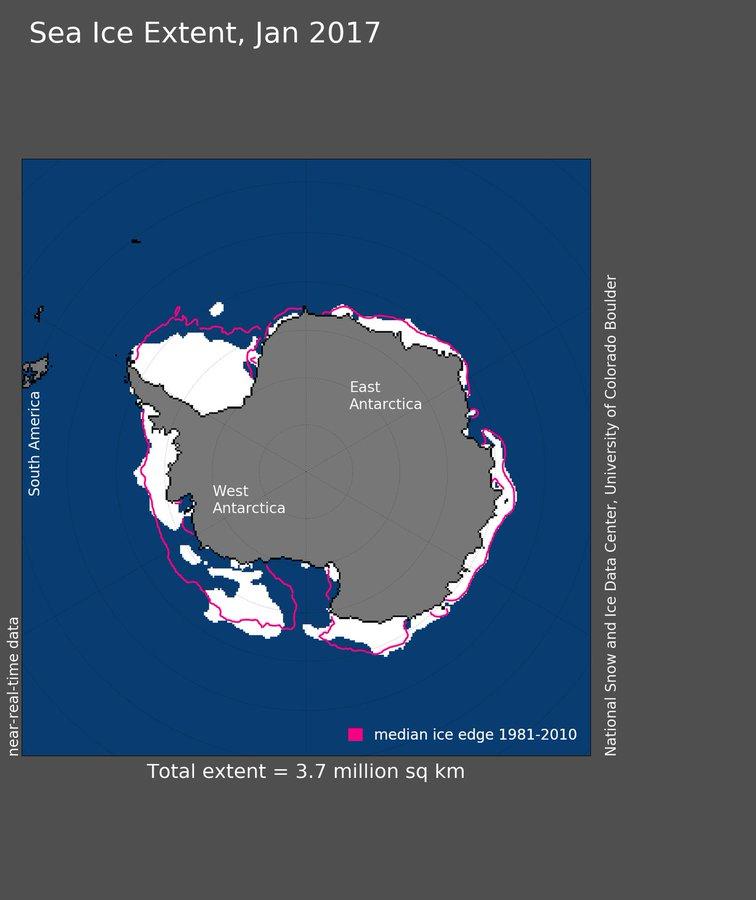 También los hielos polares sintieron el calor