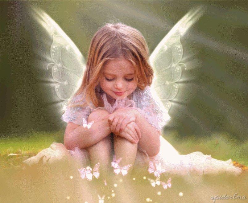 Открытки ангелы анимационные