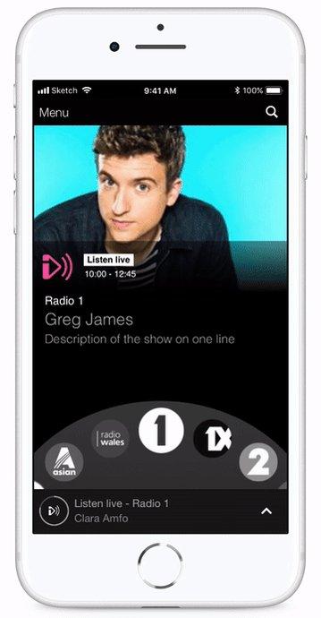 5小时交互原型设计挑战:使用 Origami,制作 BBC Radio 音乐播放器 APP 的交互原型 #设计案例 PS:圆形、弧形交互菜单都是 2B 设计  // 5 hour Prototype Challenge: BBC iPlayer Radio app using Origami Studio https://t.co/Qg8YrLeb0x https://t.co/zTmqeNCbyK 1