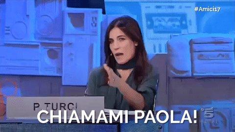 RT @AmiciUfficiale: 'Chiamami Paola' is the new 'Ciaone' 😂 #Amici17 https://t.co/Z2tqxAhzu5