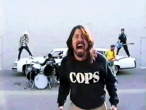 There goes my hero... Happy birthday to Dave Grohl!