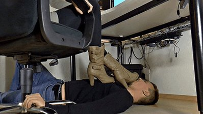 #boot slave under the desk #bootdominati...