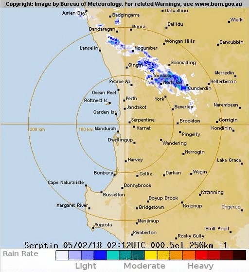 bureau of meteorology western australia on twitter showery activity showing up on the perth. Black Bedroom Furniture Sets. Home Design Ideas