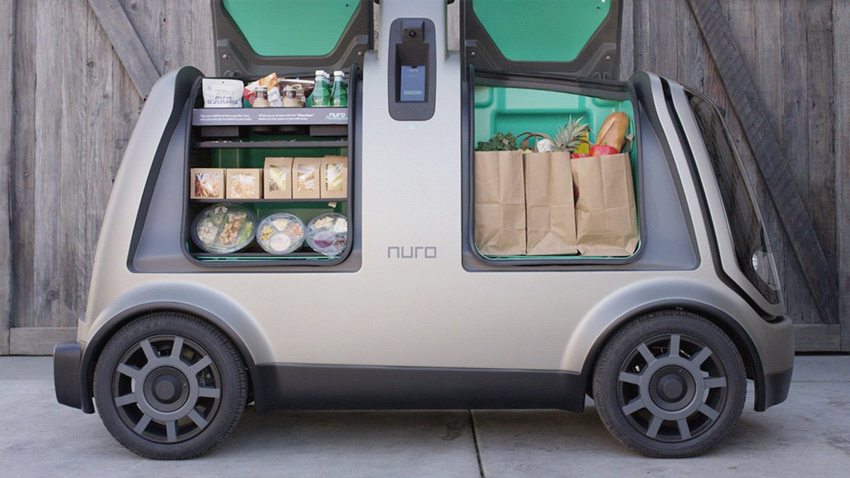 Have you seen Nuro's 250 lb payload self-driving electric package delivery van? https://t.co/TbIL9RyQ8O