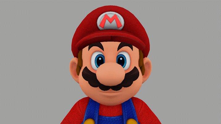 オデッセイ号に続いて…こちらもゲーム中では見ることのできない「マリオの表情」の3Dモデルになります。マリオが旅の中で見せてくれる様々な表情は、こんな感じで作られているんですよ!
