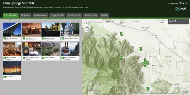 esri story maps on twitter and see also our shorter palm springs