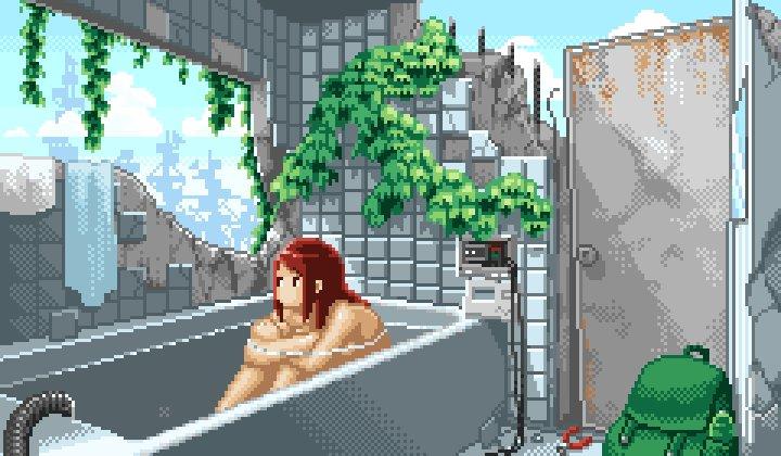 お風呂 #ドット絵 #pixelart