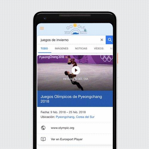 ❄️ ¡De Pyeongchang a tu móvil! ❄️Encuentra toda la información sobre los Juegos de Invierno en el buscador de Google