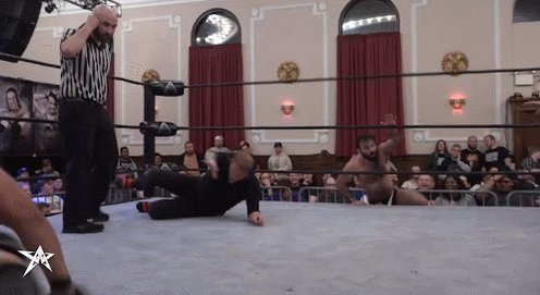 WRSTLING (@RealJeffCobb @TheProductDS @TLee910 ) With multiple kicks into a Gutwrench suplex combo! #AAW    #TheArtOfWar2018 smvod.com/products/aaw-j…