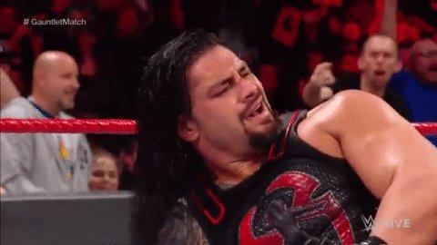 #TheBigDog @WWERomanReigns is...ELIMINAT...