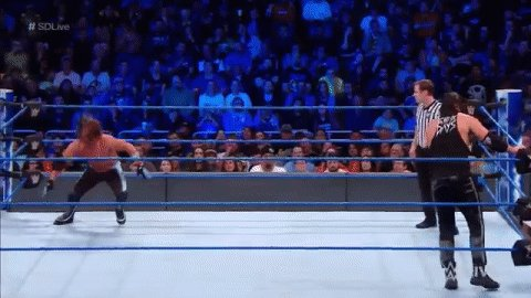 .@AJStylesOrg is in for A RIDE!!!!! #Dee...