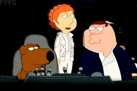 @FamilyGuyonFOX #StarWars episode on! Ya...