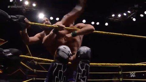 #NXTChampion @AndradeCienWWE shows NO mercy. #WWENXT