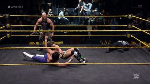 No referee... The re-emergence of @ProjectCiampa...  Luck is NOT in @JohnnyGarganos corner tonight. #WWENXT