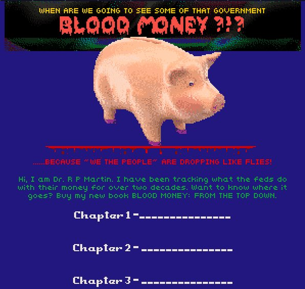 Hypnospace fun activity: Suggest chapter titles for this conspiracy theory book entitled BLOOD MONEY: FROM THE TOP DOWN. I'll pick my fave ones and get a secret collaborator to write them & attempt to make it cohesive. No referencing any real people/properties or post-1999 tech.