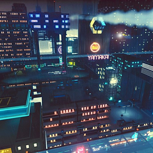 Welcome to the future. #magicavoxel #gamedev #madewithunity #cyberpunk https://t.co/jly6dBIgi7