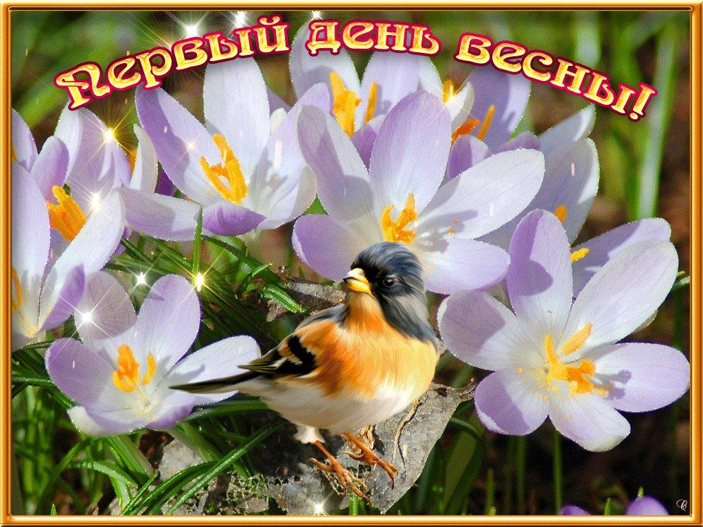 Открытки, картинка день весны