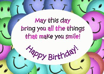 Happy birthday Miss McFadden, hope you have a great day!