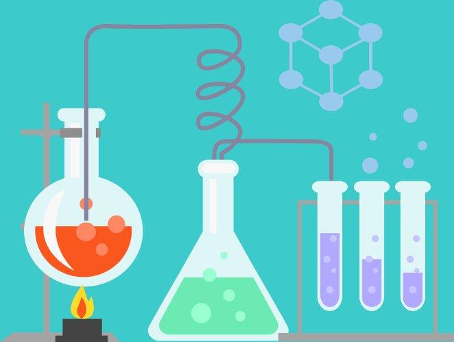 Химическая реакция в картинках