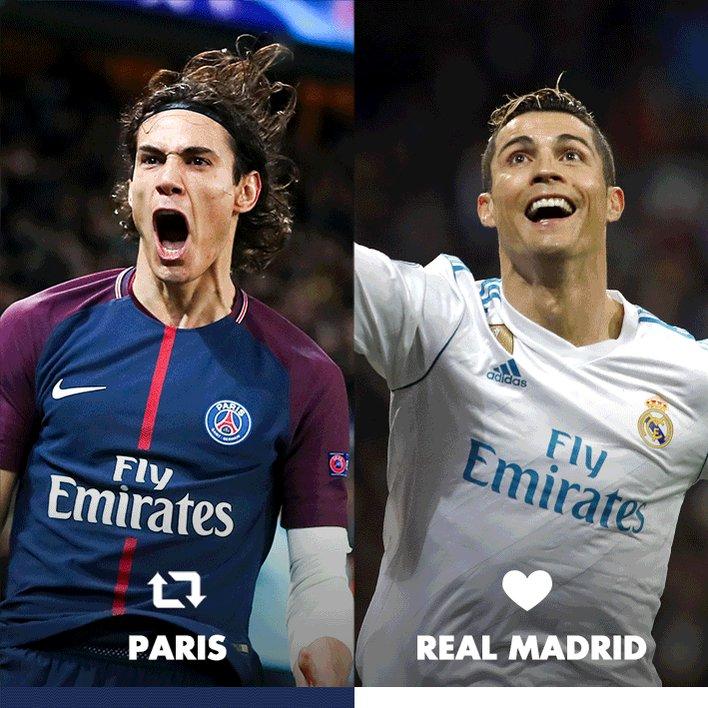 Quelle équipe allez-vous supporter ce soir ? 🔁 PARIS ou ❤️ REAL MADRID