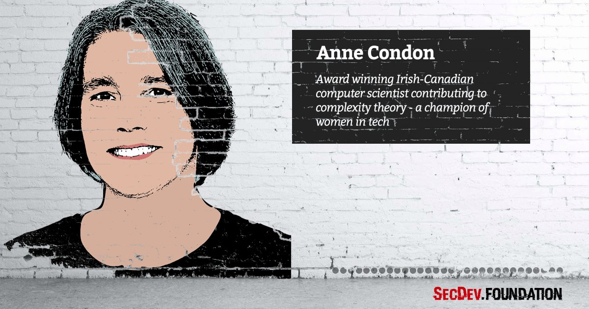 Anne Condon - award winning Irish-Canadian computer scientist contributing to complexity theory at @UBC @ubcnews #sheinspiresme #PressforProgress #womensday #cyberwomen2018 https://secdev-foundation.org/cyber-women-2018/ …