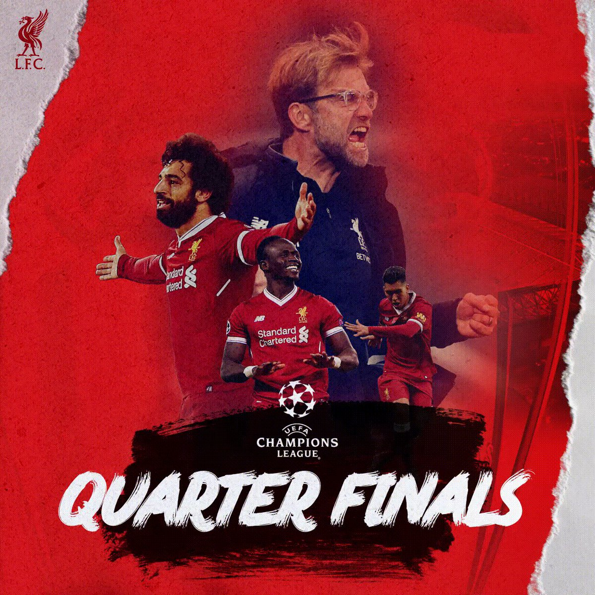 Who would you like #LFC to face in the #UCL quarter-finals? 👇 Potential opponents 👇 Real Madrid Man City or Basel Tottenham or Juventus Barcelona or Chelsea Bayern Munich or Besiktas Roma or Shakhtar Man United or Sevilla #UCL QF draw will take place on Friday 16th March.