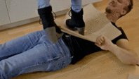 #trampling his project and his body #fem...