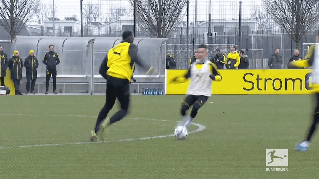 Usain Bolt during his trial with @BVB ca...