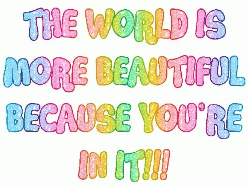 The world is more #Beautiful because YOU're in it!   #JoyTrain #Joy #Love  #Kindness #spdc #MentalHealth #Mindfulness #GoldenHearts #IAM #Quote #FamilyTrain #ChooseLove #kjoys00 #TuesdayMorning #TuesdayThoughts #TuesdayMotivation RT @PorcelliSuzanne