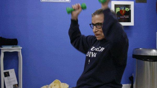 Hero. Icon. Fitness guru. Happy Birthday to Ruth Bader Ginsburg, our favorite superhero.