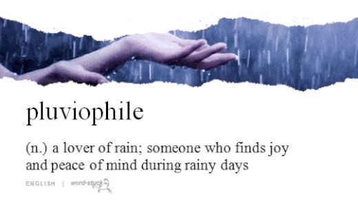 The past couple of weeks in Los Angeles have been really good for us *pluviophiles*. ☔  #vocabulary
