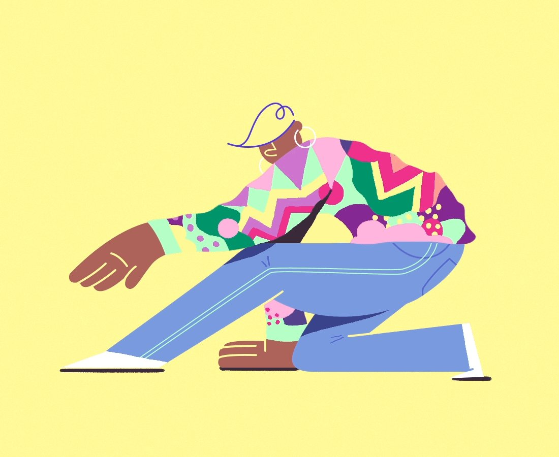 A 90s style girl gang front and center. Illustrator @catandmikyung celebrates strong character with bold colors & lines: adobe.ly/2FZkVQR #DiverseVoices