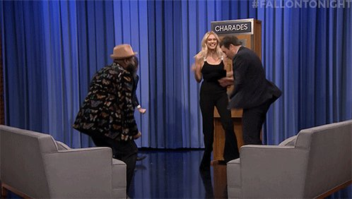 Jimmy & @karliekloss take on @aaronp...