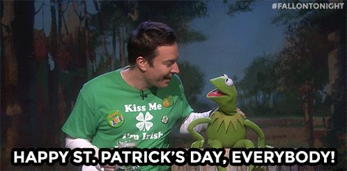 Happy #StPatricksDay from Jimmy and Kerm...