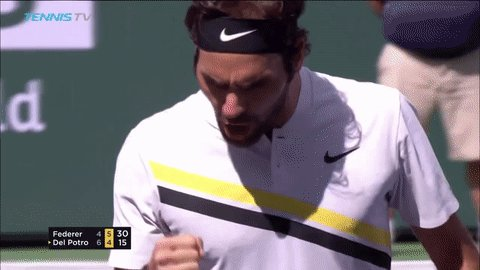 Federer is serving for the #BNPPO18 Cham...