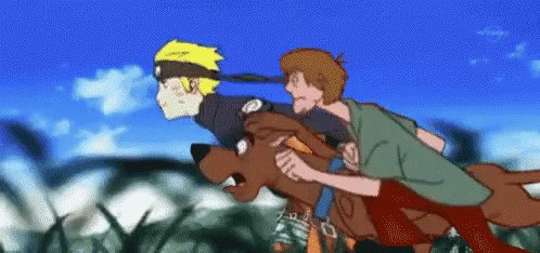 """Scoob, like we gotta save leaf village man"""
