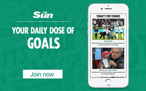 Sign up to our email newsletter for your daily dose of football news http://thesun.uk/6016DVi58