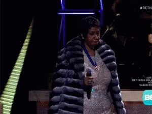 Happy birthday, Aretha Franklin. Thank you for the music - and this  gif.