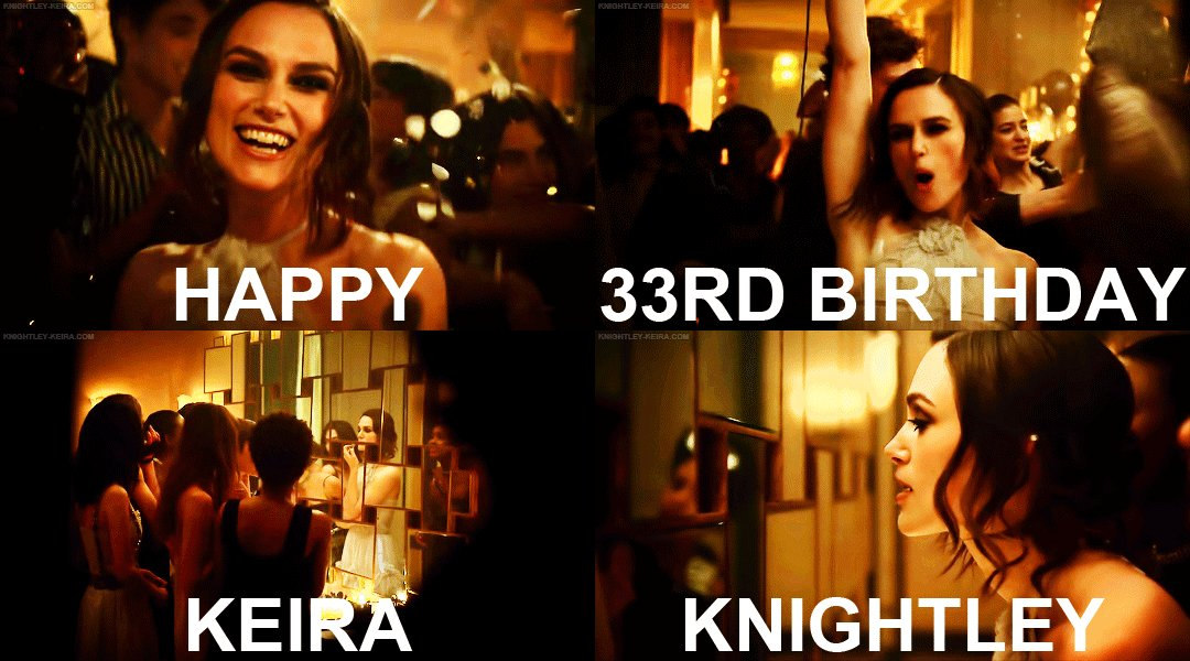 A very, very happy birthday to Keira Knightley, who turns 33 today!