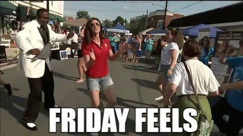 Sliding into the weekend like... #FridayFeeling