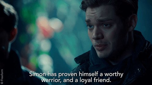 Words we never thought we'd hear Jace say. #Shadowhunters