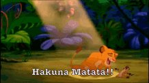@Chavezz_13 Lol! 😂 It ain't no passing craze. It means no worries, for the rest of your days...... Hakuna Matata!!