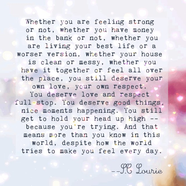Whether you are feeling strong or not, whether you have money in the bank or not, whether you are living your best life or you feel like your not, this is for you...💖💕#YouMatter #mindset #JoyTrain #ShineOn #ThinkBigSundayWithMarsha